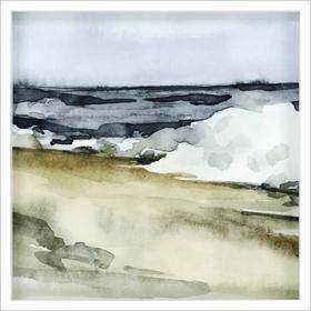 Watercolor Waves V