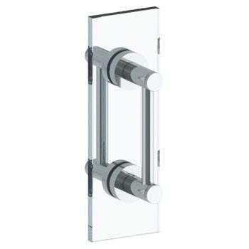 "Sutton 6"" Double Shower Door Pull / Glass Mount Towel Bar"