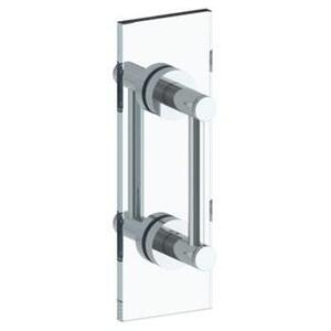"""Sutton 12"""" Double Shower Door Pull / Glass Mount Towel Bar Product Image"""