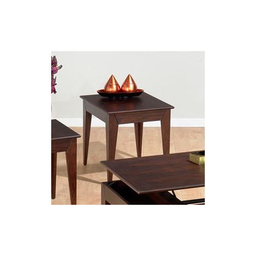 Jofran - End Table W/ Fancy Oak Veneer Top