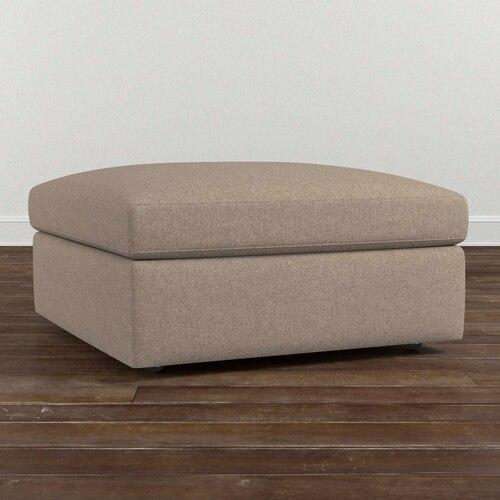 Cooper Square Storage Ottoman, Arm Style Scoop