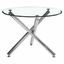 See Details - Solara II Round Dining Table in Chrome