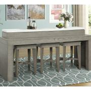PURE MODERN Everywhere Console with 3 Stools Product Image