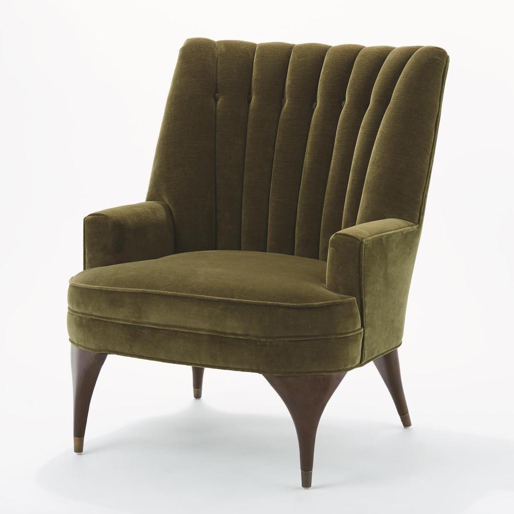See Details - Duncan Chair-Moss Velvet