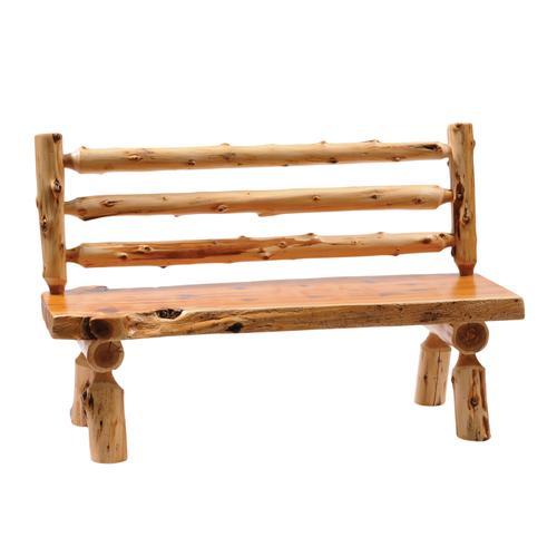 "Cedar 48"" Log Bench with Back"