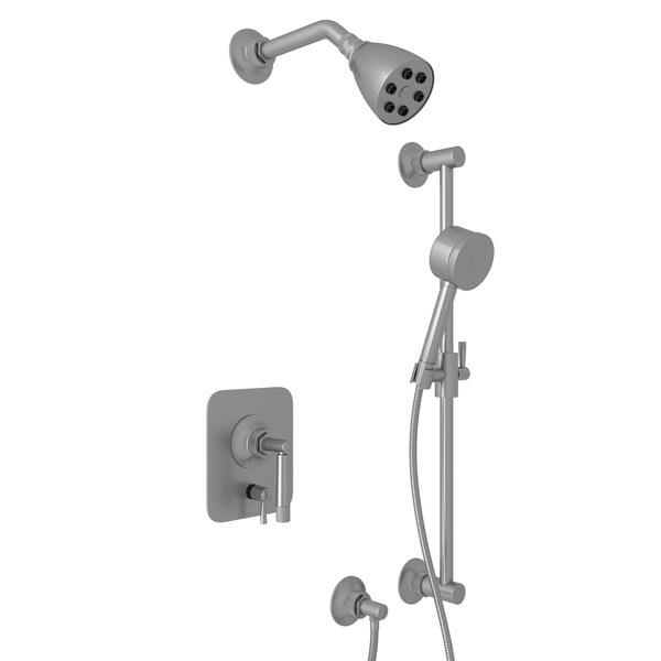 Pewter GRACELINE PRESSURE BALANCE SHOWER PACKAGE with Metal Lever Graceline Series Only