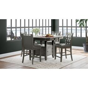 Manchester High/low Square Table & 4 Chairs Grey