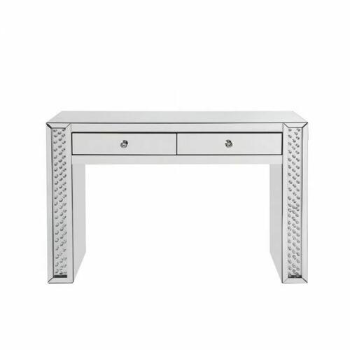 ACME Nysa Vanity Desk - 90157 - Mirrored & Faux Crystals