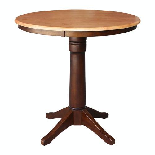 "John Thomas Furniture - 36"" Pedestal Table in Cinnamon / Espresso"