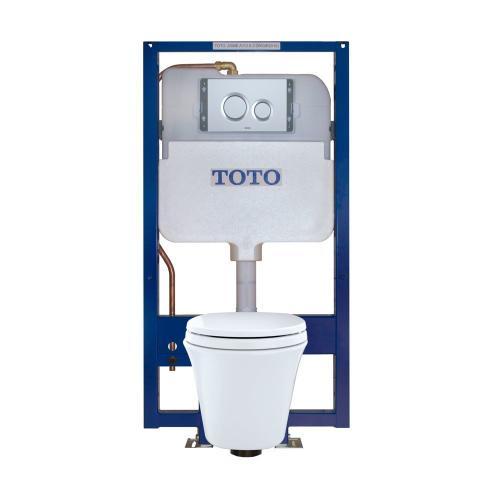 Maris® Wall-Hung Toilet & DUOFIT™ In-Wall Tank System, 1.6 GPF & 0.9 GPF, Elongated Bowl - Matte Silver
