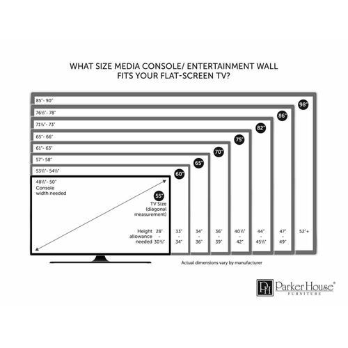 LANCASTER 4 piece Entertainment Wall
