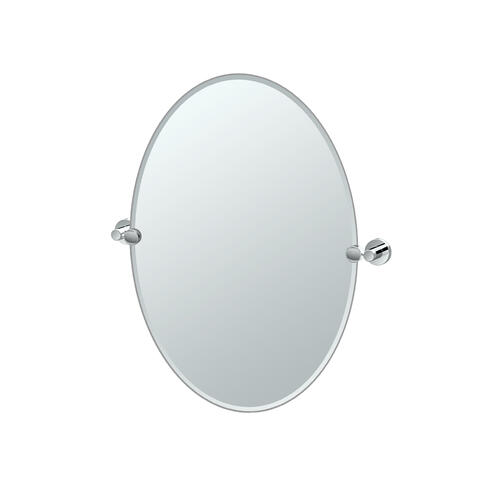 Glam Oval Mirror in Chrome