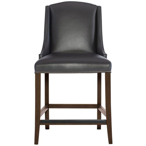 Gallery - Slope Leather Bar Stool in Cocoa Finishes Available Glacier White (WW1) Midnight Black (BW1) Weathered Greige (GW1) Description Upholstered seat with welt Upholstered inback and outback Stretchers Metal cap on front stretcher Options Optional nailhead trim available. Available in other Bernhardt Interiors Dining Chair Leathers . To order in the available wire brushed finishes, specify the 3-digit finish number. Also available in non-wire brushed finishes - Cocoa, Portobello and Smoke. See 319-86NL . Also available in fabric. Order as 319-586W . Specifications subject to change without notice. Due to differences in screen resolutions, the fabrics and finishes displayed may vary from the actual fabric and finish colors. ALL RELATED PRODUCTS