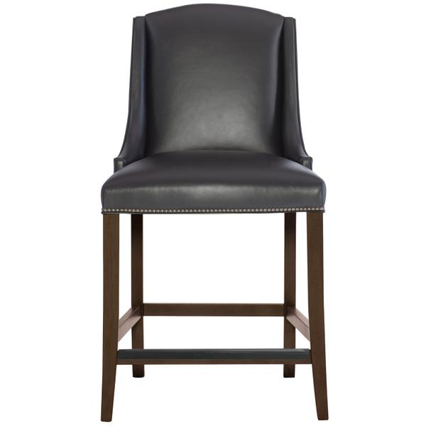 See Details - Slope Leather Bar Stool in Cocoa Finishes Available Cocoa (CN1) Portobello (PN1) Smoke (SN1) Description Upholstered seat with welt Upholstered inback and outback Stretchers Metal cap on front stretcher Options Optional nailhead trim available. Available in other Bernhardt Interiors Dining Chair Leathers . To order in the available non-wire brushed finishes, specify the 3-digit finish number. Also available in wire brushed finishes - Glacier White, Midnight Black and Weathered Greige. See 319-86WL . Also available in fabric. Order as 319-586N . Specifications subject to change without notice. Due to differences in screen resolutions, the fabrics and finishes displayed may vary from the actual fabric and finish colors. ALL RELATED PRODUCTS