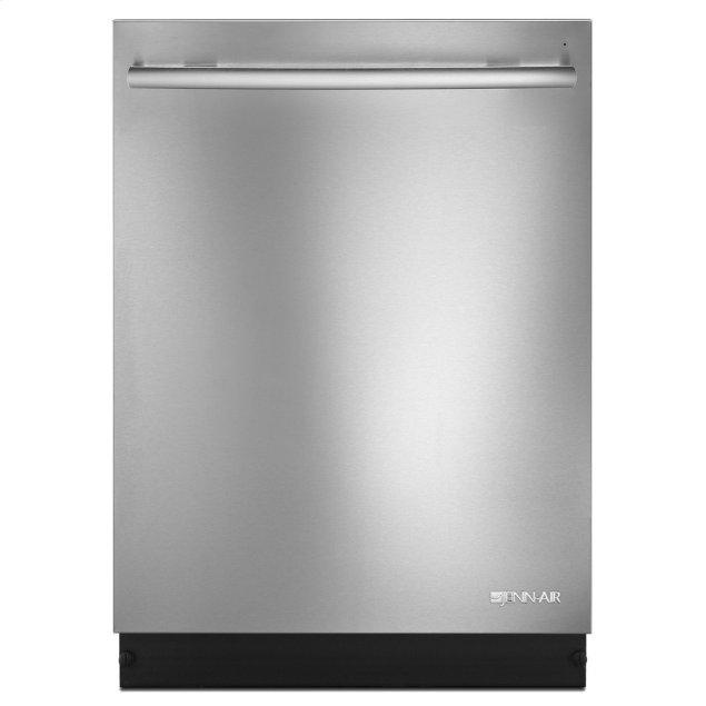 """Jenn-Air Euro-Style 24"""" Built-In TriFecta Dishwasher, 38dBA Stainless Steel"""