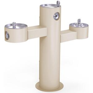 Elkay Outdoor Fountain Tri-Level Pedestal Non-Filtered, Non-Refrigerated Beige Product Image