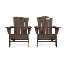View Product - Wave 2-Piece Adirondack Set with The Wave Chair Left in Mahogany