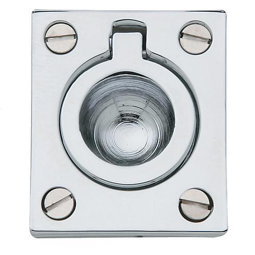 Baldwin - Polished Chrome Flush Ring Pull