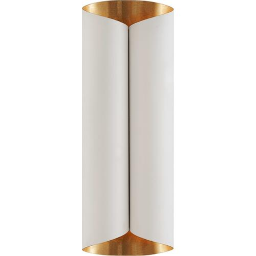 AERIN Selfoss 4 Light 8 inch Plaster White and Gild Sconce Wall Light, Large