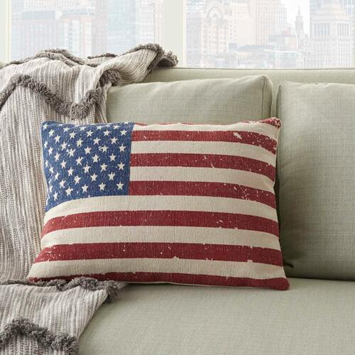 """Life Styles Dl509 Multicolor 14"""" X 20"""" Throw Pillow"""