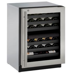 """3024zwc 24"""" Dual-zone Wine Refrigerator With Stainless Frame Finish and Right-hand Hinge Door Swing (115 V/60 Hz Volts /60 Hz Hz)"""
