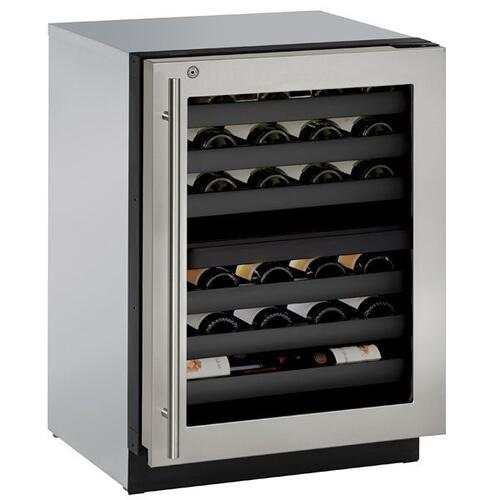 "3024zwc 24"" Dual-zone Wine Refrigerator With Stainless Frame Finish and Right-hand Hinge Door Swing (115 V/60 Hz Volts /60 Hz Hz)"
