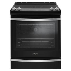 6.4 Cu. Ft. Slide-In Electric Range with True Convection Black Ice - BLACK ICE