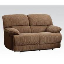 See Details - L. Brown Loveseat W/motion