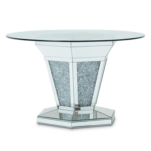 Round Glass Dining Table (2 Pc)