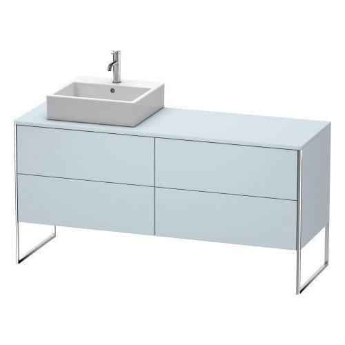 Vanity Unit For Console Floorstanding, Light Blue Satin Matte (lacquer)