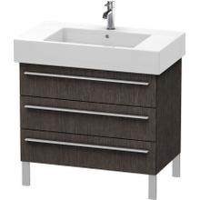 View Product - Vanity Unit Floorstanding, Brushed Dark Oak (real Wood Veneer)