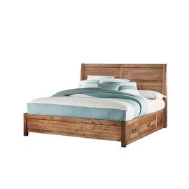 Queen Plank Bed with 2 Sides storage