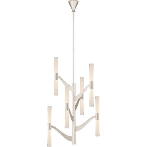 Visual Comfort - AERIN Brenta LED 26 inch Polished Nickel Chandelier Ceiling Light, Medium Tall