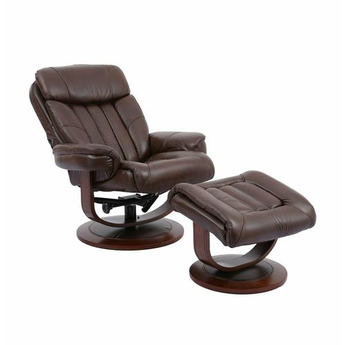 PRINCE - ROBUST Manual Reclining Swivel Chair and Ottoman