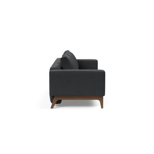 "DELUXE QUILT SOFA SEAT, 55""X79""/DELUXE SOFA BACK W/3 CUSHION INSERTS/FL DELUXE ARM RESTS, 1 SET/HODER LEG BARS, MAT BLACK/HODER LEGS, DARK WOOD"