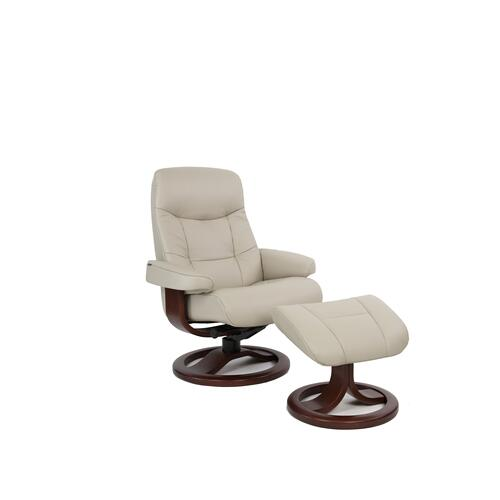 Muldal R Manual Large Recliner With Footstool