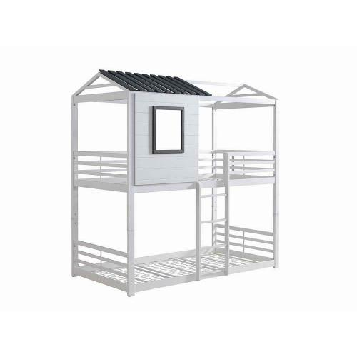 Belton Light Grey Twin-over-twin Bunk Bed