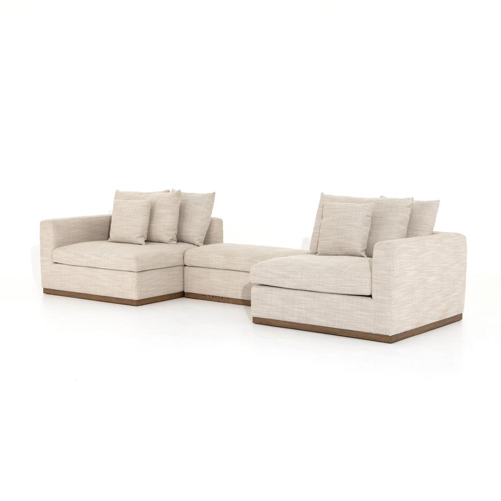 Paz 2 PC Sectional W/storage Ottoman-gab