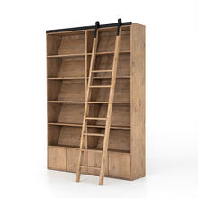 Bane Double Bookshelf W/ Ladder-smoked P