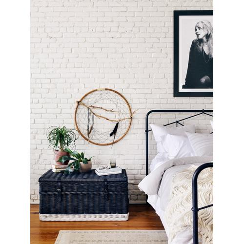 Queen Size Black Finish Casey Bed