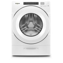 Whirlpool 4.5CF White Closet-Depth Front Load Washer with Load & Go Dispenser