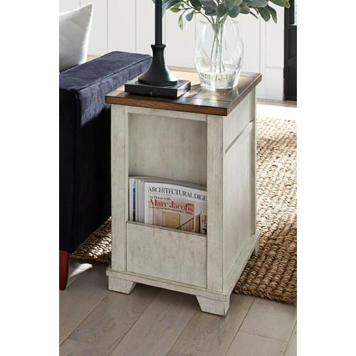 Null Furniture Inc - Toasted Almond Finished Chairside Cabinet w/ Magazine storage in back      (5519-22,53036)