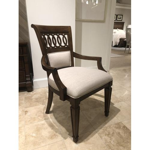 Old Town Upholstered Back Arm Chair - Barrister