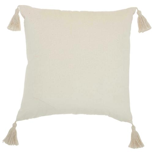"Life Styles Et093 Ivory 20"" X 20"" Throw Pillow"