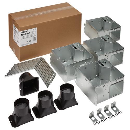 FLEX Series Bathroom Ventilation Fan Only Housing Pack with Flange Kit