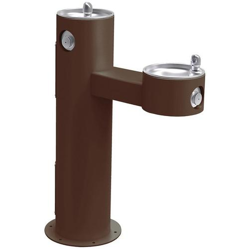 Elkay - Elkay Outdoor Fountain Bi-Level Pedestal Non-Filtered, Non-Refrigerated Brown