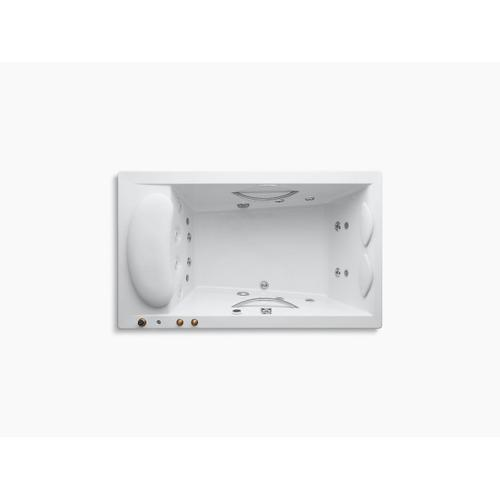 "White 75"" X 45"" Drop-in Whirlpool With Integral Fill, Chromatherapy and Heater Without Jet Trim"