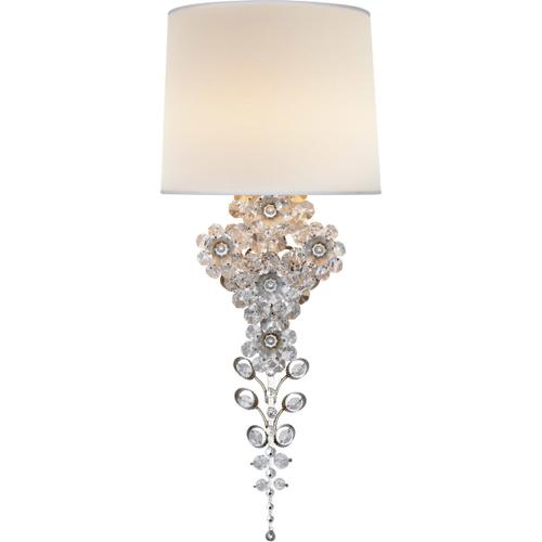 AERIN Claret 1 Light 10 inch Burnished Silver Leaf Tail Sconce Wall Light