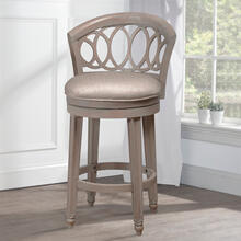 Adelyn Swivel Bar Height Stool, Antique Graywash