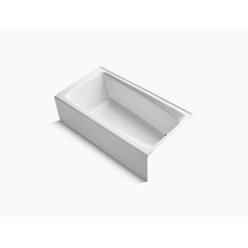"White 60"" X 32"" Alcove Bath With Integral Apron and Right-hand Drain"